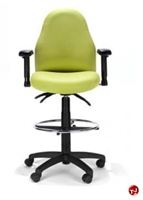 Picture of RFM 4833 Ergonomic High Back Office Task Stool Chair, Footring