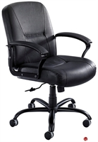 Picture of Big and Tall Mid Back Leather Office Chair