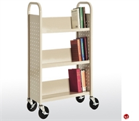 "Picture of 3 Tier Single Sided Mobile Book Truck, 17"" x 13"" x 42"""
