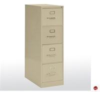 "Picture of 4 Drawer Letter Steel Vertical File Cabinet, 15"" x 25"" x 52"""