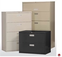 "Picture of 4 Drawer Steel Lateral File Cabinet, 36"" x 19"" x 54"""