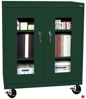 """Picture of Clear View Transport Mobile Counter Height Storage Cabinet, 36"""" x 18"""" x 48"""""""