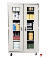 "Picture of Clear View Transport Mobile Storage Supply Cabinet, 36"" x 24"" x 78"""