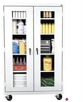 "Picture of Clear View Transport Mobile Storage Supply Cabinet, 46"" x 24"" x 78"""