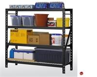 """Picture of Heavy Duty Welded Steel Open Wire Rack Shelf, 77"""" x 24"""" x 78"""""""