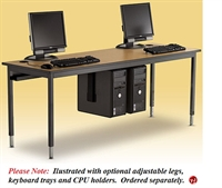 "Picture of 24"" x 60"" Fixed Height Training Computer Table"
