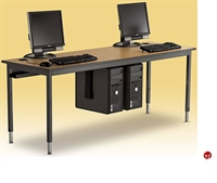 "Picture of 24"" x 72"" Adjustable Height Training Computer Table, CPU Holder"