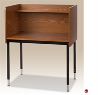 "Picture of 24""D x 37""W Fixed Height Study Carrel with Overhead Shelf"