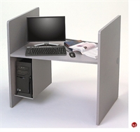 "Picture of 30"" x 42"" Laminate Computer Study Carrel Workstation, CPU Holder"