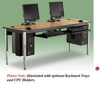 "Picture of 30"" x 48"" Adjustable Height Training Computer Table"
