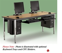 "Picture of 30"" x 60"" Adjustable Height Training Computer Table"