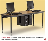 "Picture of 30"" x 60"" Fixed Height Training Computer Table"