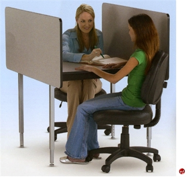 """Picture of 48""""x 37"""" Fixed Height Study Carrel Workstation"""