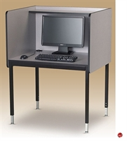 Picture of Adjustable Height Computer Study Carrel