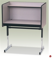 Picture of Adjustable Height Pedestal Base Study Carrel