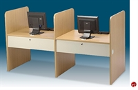 """Picture of Cluster of 2, 30"""" x 37"""" Laminate Computer Study Carrel Workstation"""