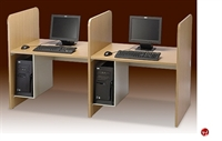 """Picture of Cluster of 2, 30"""" x 37"""" Laminate Computer Study Carrel Workstation, CPU Holder"""