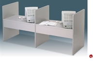 """Picture of Cluster of 2, 30"""" x 42"""" Laminate Computer Study Carrel Workstation"""