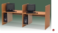 """Picture of Cluster of 2, 30"""" x 42"""" Laminate Computer Study Carrel Workstation, CPH Holder"""