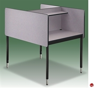 Picture of Cluster of 2, Adjustable Height Laminate Telemarketing Study Carrel