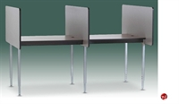 Picture of Cluster of 2, Fixed Height Laminate Telemarketing Study Carrel