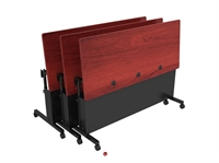 "Picture of Sperco 18"" x 48"" Flip Top Mobile Training Table"
