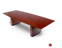 "Picture of TRIA 14', 48"" x 168"" Veneer Boat Shape Office Conference Table"