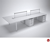 Picture of TRIA 4 Person Cluster Teaming Bench Office Desk Workstation
