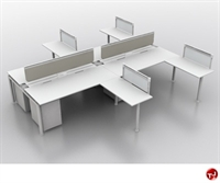 Picture of TRIA 4 Person Cluster Teaming Office Desk Workstation