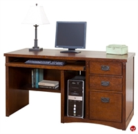 "Picture of 56""W Computer Desk Workstation, Filing Pedestal"