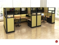 Picture of 2 Person U Shape Office Desk Cubicle Workstation