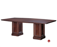 "Picture of 96"" Boat Shape Veneer Conference Table"