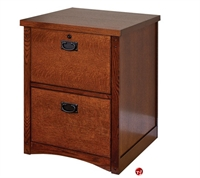 Picture of Veneer Two Drawer Vertical File Cabinet
