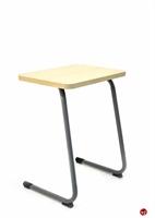 """Picture of Vanerum Curve, Adjustable Height Classroom School Desk, 24"""" x 18""""D"""