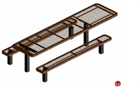 Picture of Webcoat Regal T10RC, 10' Metal Pedestal Outdoor Picnic Bench Table