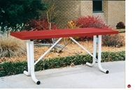 Picture of Webcoat Regal T10UP Outdoor Metal 10' Portable Table