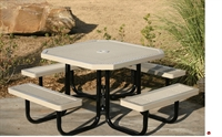 """Picture of Webcoat Regal T46, 46"""" Octagon Metal Outdoor Picnic Bench Table"""