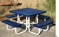 """Picture of Webcoat Regal T46, 46"""" Square Metal Outdoor Picnic Bench Table"""
