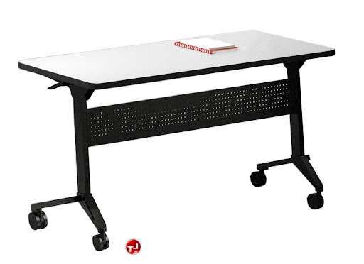 The Office Leader X Mobile Flip Top Nesting Training Table - 18 x 60 training table