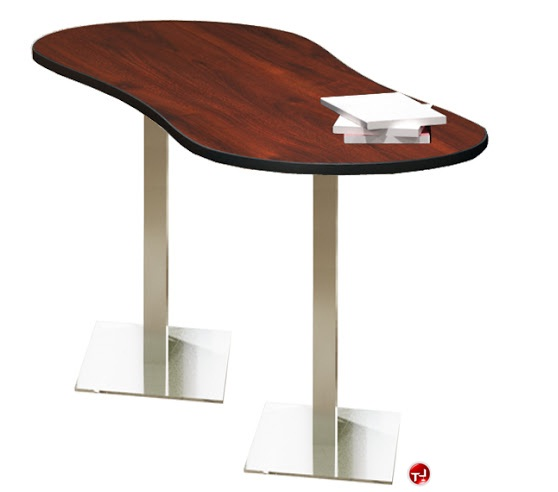 the office leader 30 x 72 oval cafeteria dining bar height table. Black Bedroom Furniture Sets. Home Design Ideas