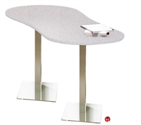 """Picture of 30"""" x 72"""" Oval Cafeteria Dining Meeting Table"""