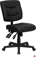 Picture of Brato Mid Back Leather Multi Function Armless Chair