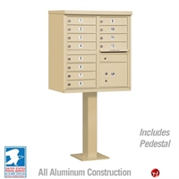 Picture of Brew Aluminum Mailbox Cluster Box, 12 Doors