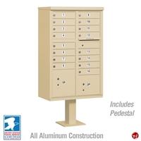 Picture of Brew Aluminum Mailbox Cluster Box, 16 Doors