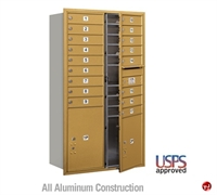 Picture of BREW Aluminum Mailbox Locker, Double Column, Front Loading