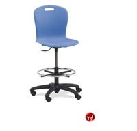 Picture of AILE Armless Poly Lab Stool, Footring