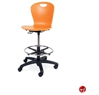 Picture of AILE Poly Armless Swivel Task Stool Chair, Footring