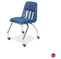 Picture of AILE Armless Poly Plastic Mobile Chair, Padded Seat