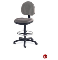 Aile Armless Swivel Task Stool Chair Footring
