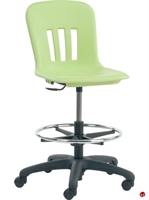 Picture of AILE Poly Shell Task Armless Stool Chair, Footring